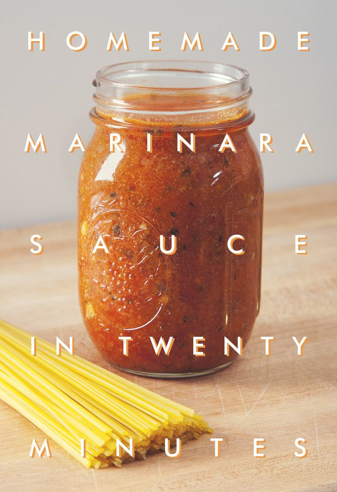 Homemade Marinara Sauce in 20 Minutes | picklesnhoney.com