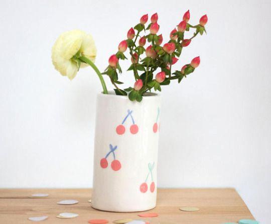 Cherry Tube Vase by ChaSupermarket