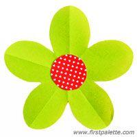 Step 9 Folding Five-Petal Paper Flower Craft