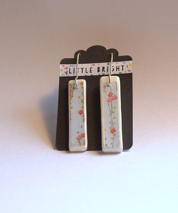 Ceramic and Origami paper Earrings