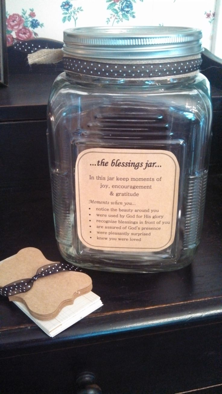 blessings jar - note on back and notecards