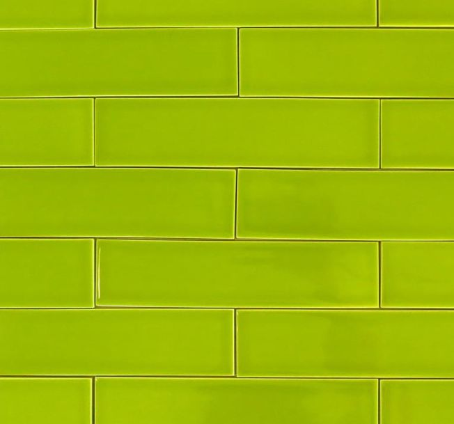 Bright Green Kitchen Tiles