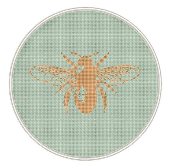 Bee Cross stitch pattern cross stitch insect by MagicCrossStitch