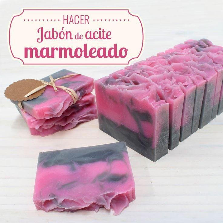 Hacer jabón de aceite con aspecto marmoleado y esencia aromática de palomitas