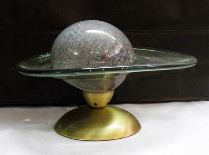 Saturn Series. Wrought Iron with Saturn Blown Glass.