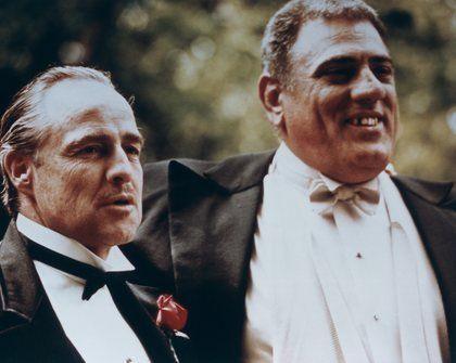 Marlon Brando and Lenny Montana as Luca Brasi, The Godfather