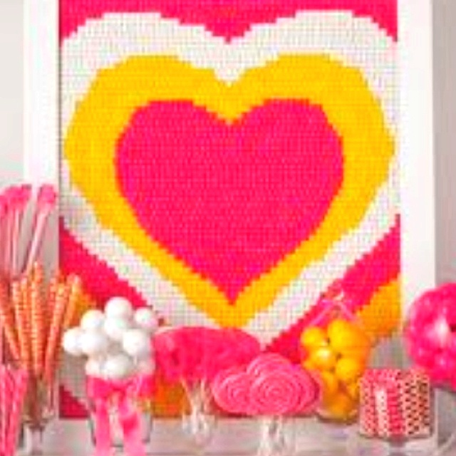 Candy want to make this for rileys room only out of something better than candy would make for beautiful and cute artwork for a 4yr old girls bedroom!!!