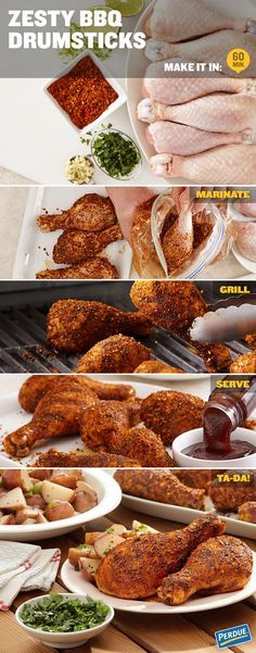Try this recipe for Zesty BBQ Drumsticks and have a Yummer Summer! In a gallon-size resealable plastic bag, combine olive oil, BBQ seasoning rub, lime juice and zest, garlic, salt and pepper. Add drumsticks and toss to coat. Marinate in the refrigerator for 15 to 30 minutes or up to 8 hours. Preheat broiler or grill to medium-high heat. Grill drumsticks 14 to 16 minutes, turning occasionally, until chicken is cooked through and golden brown.
