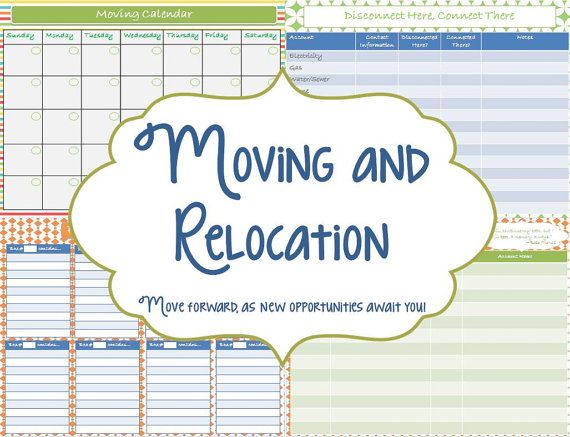 If you're getting ready to move, you need this Moving and Relocation Printable Planner by sweetsimplelife, $7.00!