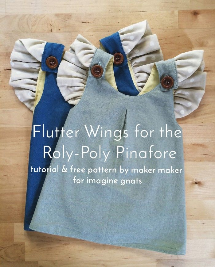 roly-poly pinafore with flutter wings