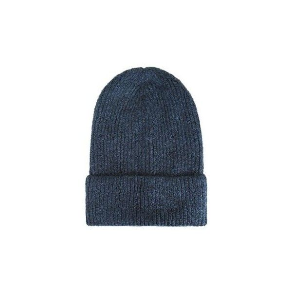 TopShop Soft Beanie Hat ($22) ❤ liked on Polyvore featuring accessories, hats, navy blue, navy blue beanie hat, saggy beanie, topshop hats, acrylic beanie hat and navy hat