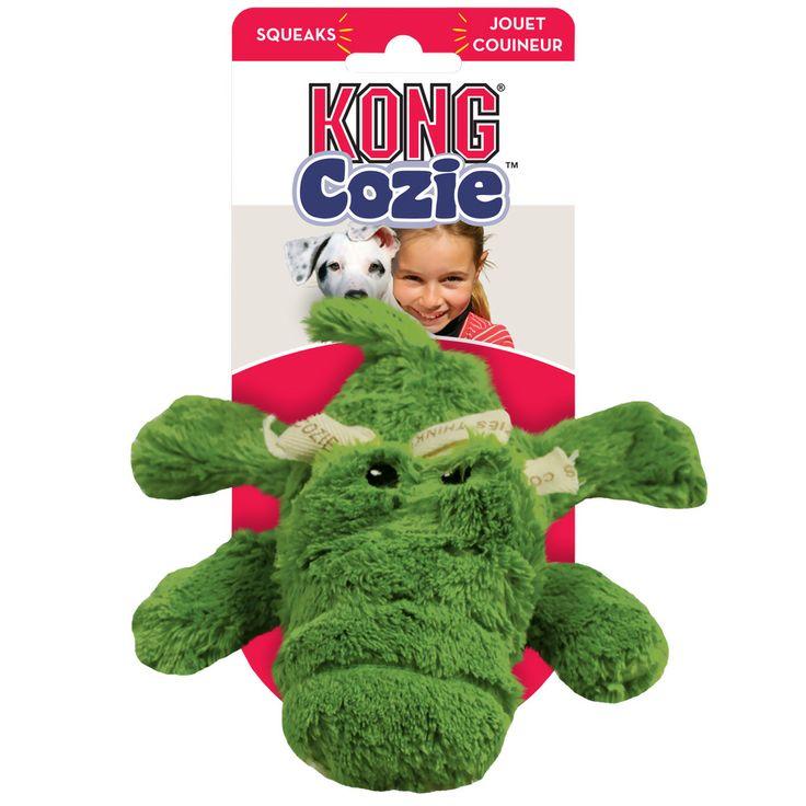 KONG Cozie Ali the Alligator Dog Toy Medium Dog toys