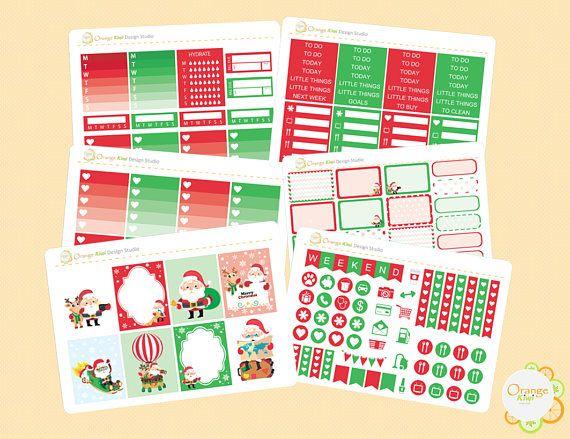 Christmas Weekly Kit for Erin Condren Life Planner Christmas