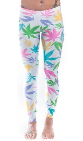 Bubblegum Kush Weed Print Leggings! - Miss Mary Jane Co.