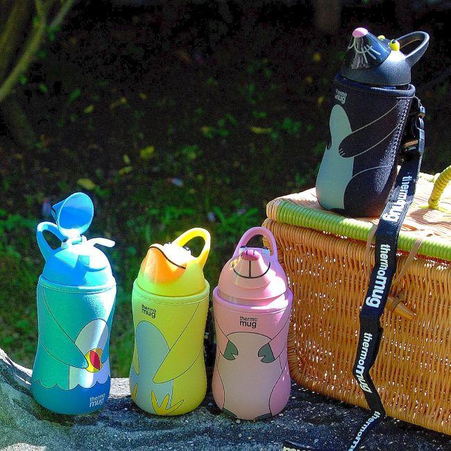 thermo mug(サーモマグ)アニマルボトル ストロー式水筒 動物 ステンレスボトル 水筒 マイボトル