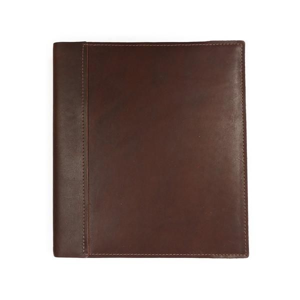 Leather 1.5 Inch 3-Ring Binder Cover - Burgundy