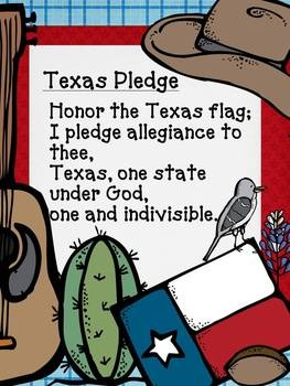 Texas Pledge: we would say the american pledge first then turn to the great nation of TEXAS and say the pledge to our flag, every morning.