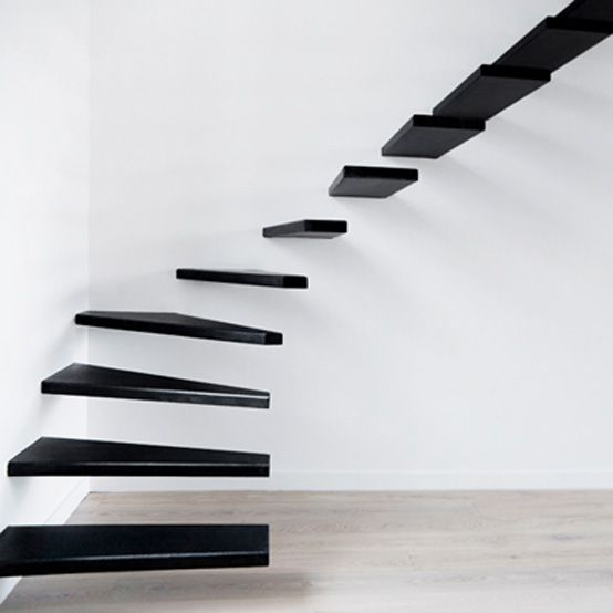 Floating stairs.  I'd prefer a wooden flight of stairs