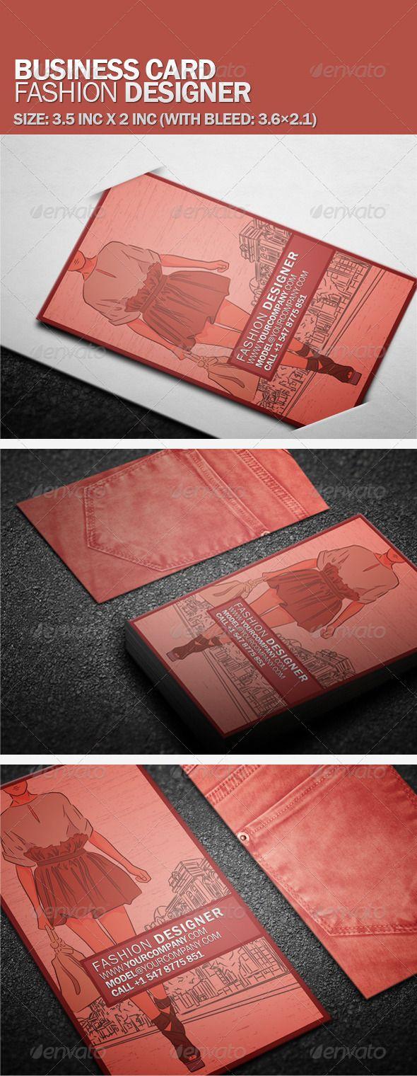 Business Card Fashion Designer Corporate Fashion Cards