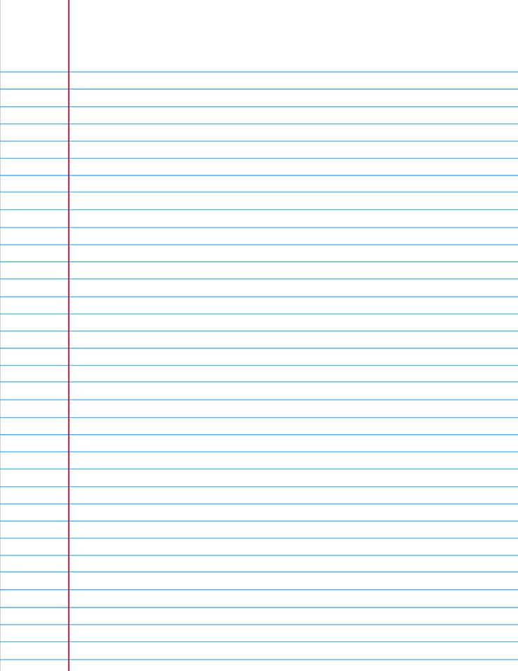 When you're in a bind and need a piece of college ruled paper ... here you go!