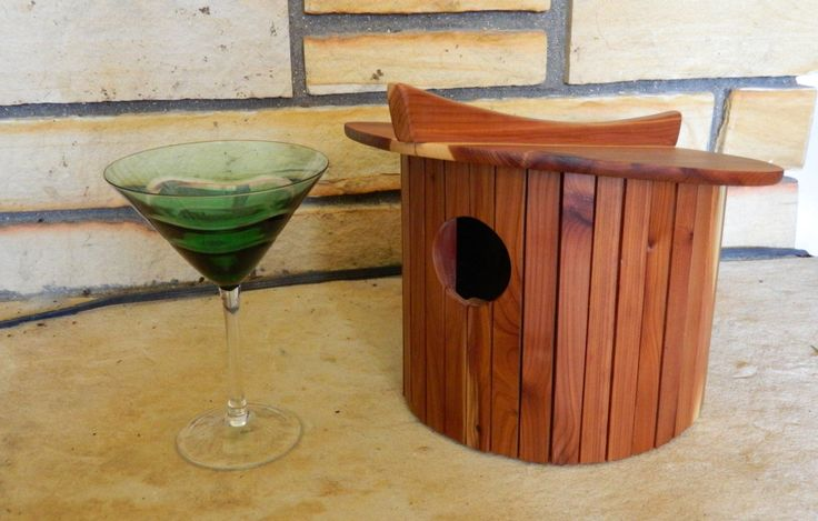 Birdhouse, Mid-century modern, homewarming gift, wedding gift by TheModBird on Etsy