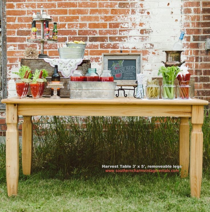 Harvest Table.  Easy to transport. www.southerncharmvintagerentals.com