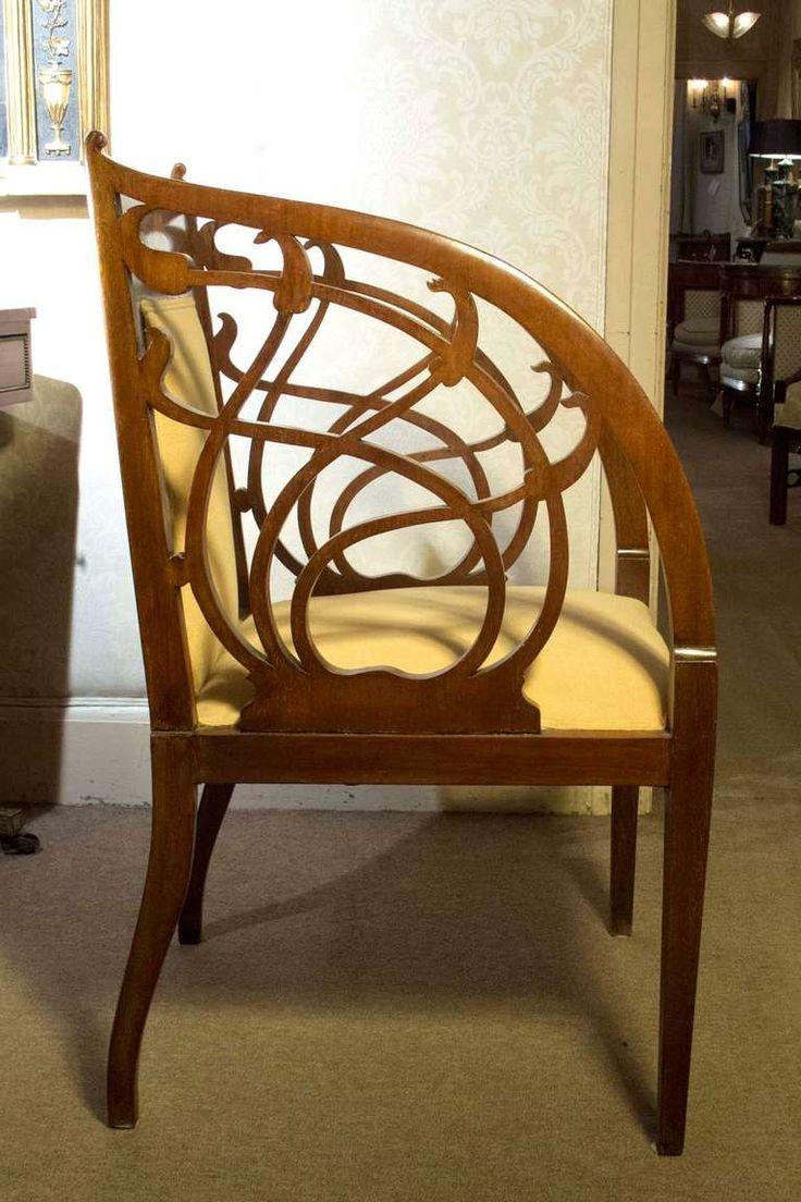 312 best Art Nouveau Chairs images on Pinterest | Antique ...