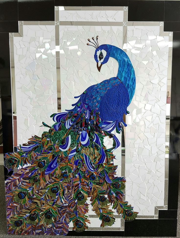 Art Deco peacock by Liyana Sharif Darwiche and her mother Anisa
