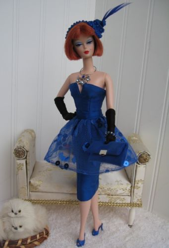 Bill Tanner OOAK Silk Cocktail Dress for Silkstone Barbie and Fashion Royalty