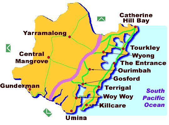 map central coast nsw image - Google Search