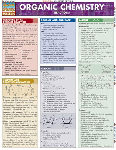 O-chem | BarCharts: QuickStudy ORGANIC CHEMISTRY REACTIONS, Mark Jackson, Ph.D ...