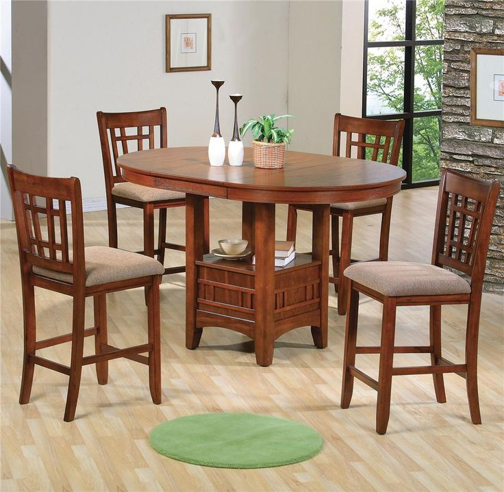 empire counter height dining table and chair set with