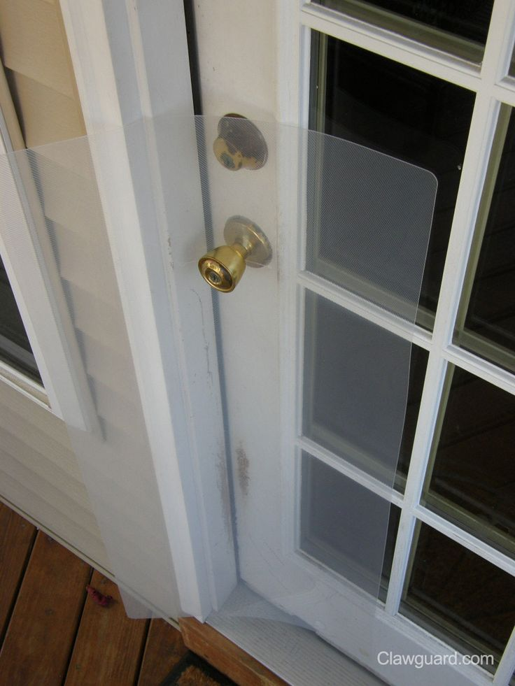 Outdoor Installation Prevents Pets From Clawing At The Door And Scratching  The Exterior Doors Of Your