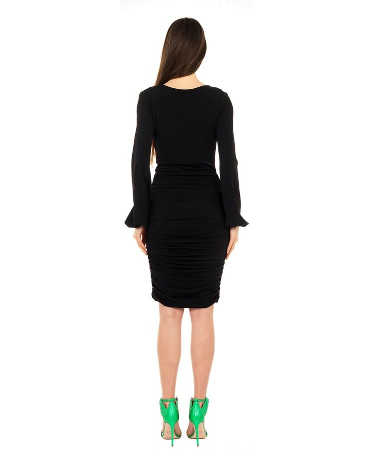 SEN COUTURE TIGHT DRESS WITH RUFFLES SS 2016 Tight dress  skirt with ruffles  long sleeves with wristband  reversible front and back  double fabric  95% Microfiber 5% Lycra  Dry wash