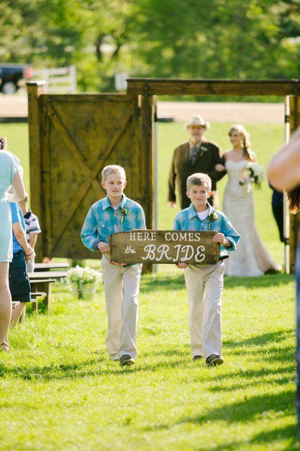 Western Farm Wedding