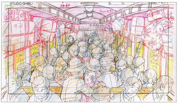 artbooksnat:  Original animation layouts from the Hayao Miyazaki film The Wind Rises (風立ちぬ).