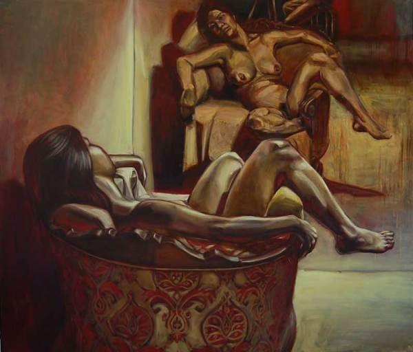 Mark Vazquez-Mackay, Diane, oil on canvas, 131 x 113 in.