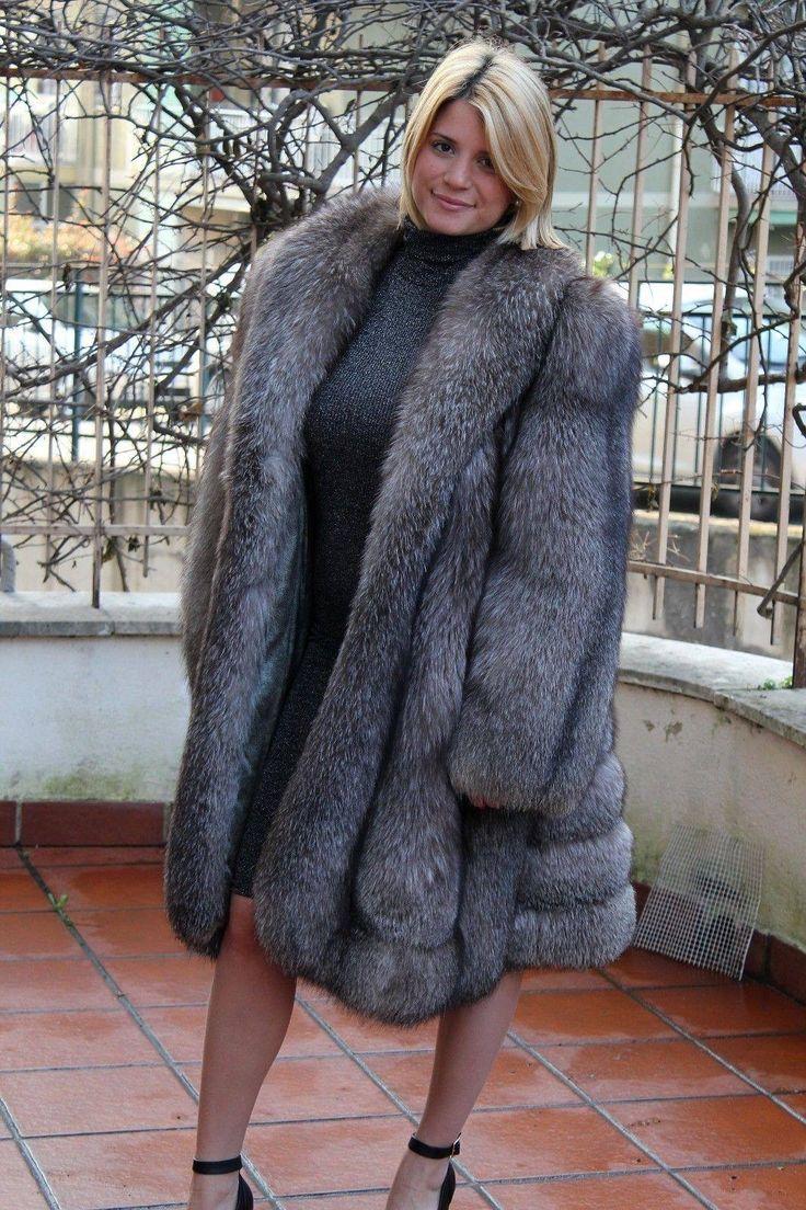 Big tits naked under coat