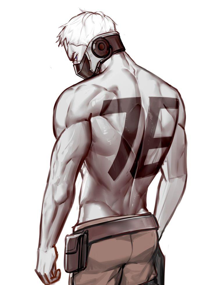 Overwatch Fanart: Soldier 76 Shirtless <3