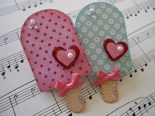 Ice Cream Pop Embellishments | Handmade by me.. | vsroses | Flickr