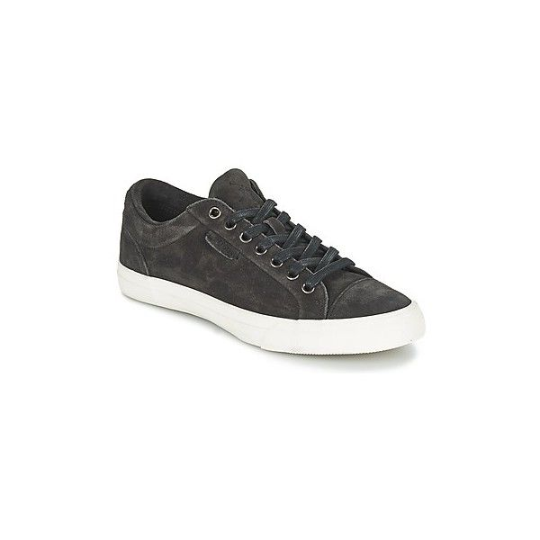 Ralph Lauren GEFFREY Shoes (Trainers) (€120) ❤ liked on Polyvore featuring men's fashion, men's shoes, men's sneakers, grey, men, shoes, trainers, mens grey shoes, mens shoes and mens leather shoes