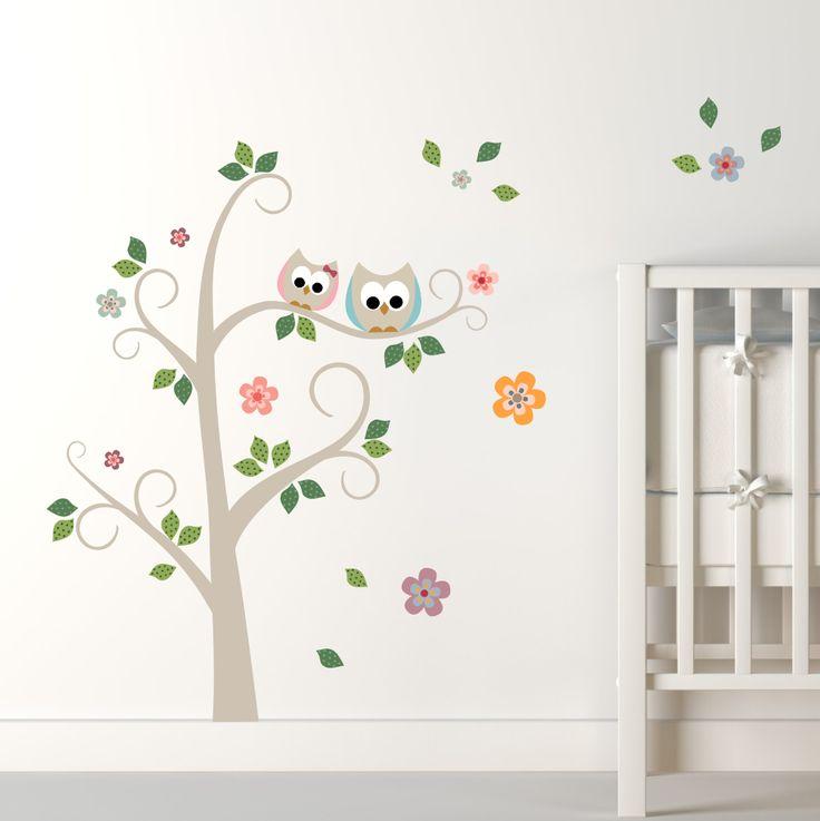 Decoração de quarto de bebê   Adesivos Corujinhas - MimoInfantil. http://www.mimoinfantil.com.br/decoracoes-para-quarto-bebe-adesivos-corujinhas-mimo-infantil/