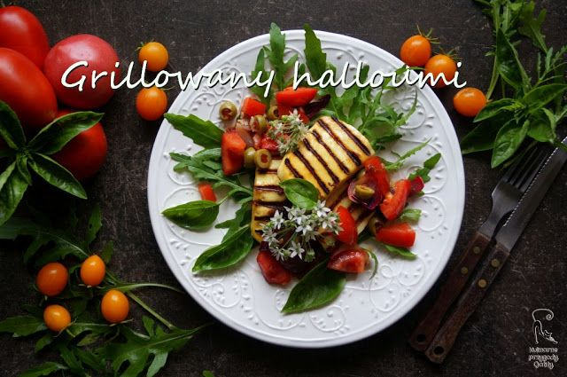 Kulinarne przygody Gatity: Grillowany ser halloumi z warzywami