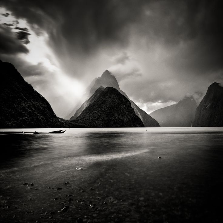 Milford sounds clearing photography digital by olivier borson landscape picturesdocumentary photographyblack white