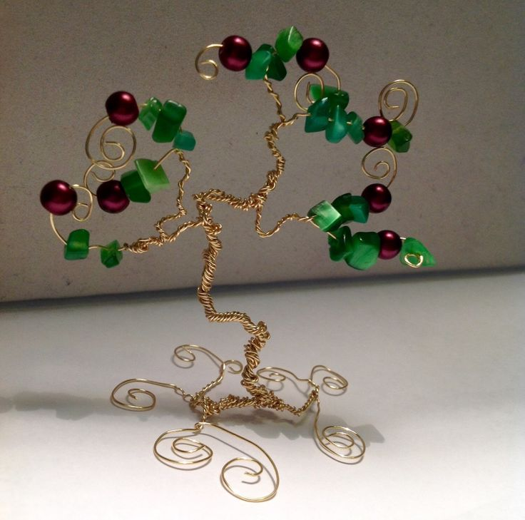 Tree Of Life - Adam and Eve - Bonsai - Wire Tree - Miniature Tree - Apple Tree - Wire Tree of Life - Gold Wire  - Nature Inspired   https://www.etsy.com/listing/249964961/tree-of-life-adam-and-eve-bonsai-wire