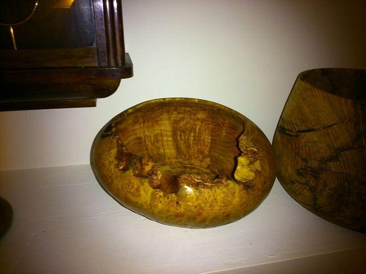 Olcha woodturning bowl