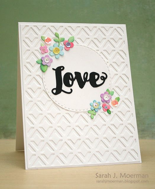 My Impressions: Simon Says Stamp Floral Love Card! This reminds me of lattice in a garden.