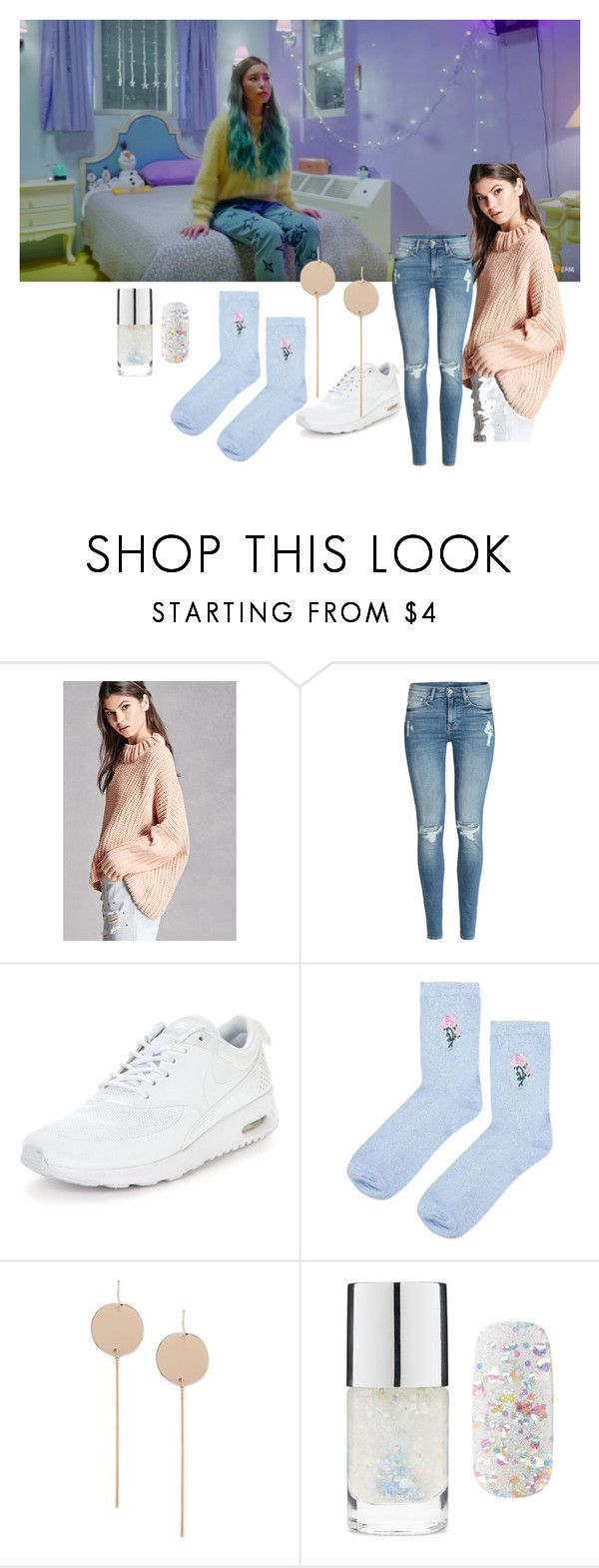 """Heize's ""Star"""" by mandalinaqitrydewi on Polyvore featuring Forever 21, H&M, NIKE and Topshop"