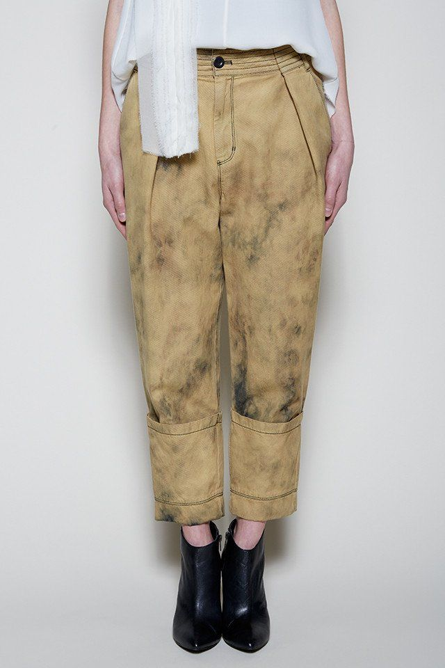 Gary Graham - Bleached Denim Cuffed Pant