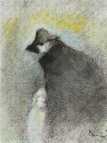 Mother with child by Elvi Maarni